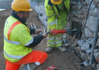 The Gabion Support picture caption