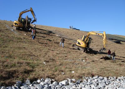 US Highway 98, Mobile Alabama - installing earth anchors