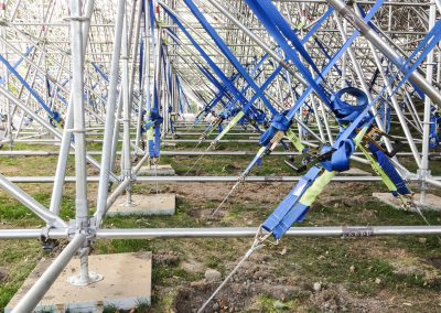 Hagley Oval secured scaffolding with S8 anchors