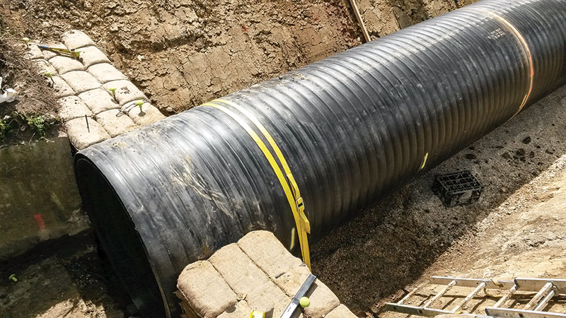 Chilton Street Culvert – UK - Pipe installed with Platipus S8 system