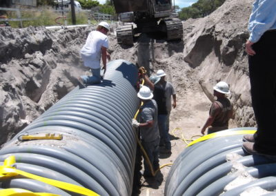 Mesquite St Storm Drainage - Corpus Christi, TX - Securing pipelines with Platipus earth anchors