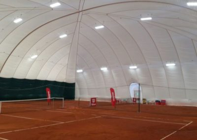 Munich Air Dome - Secured with Platipus earth anchors