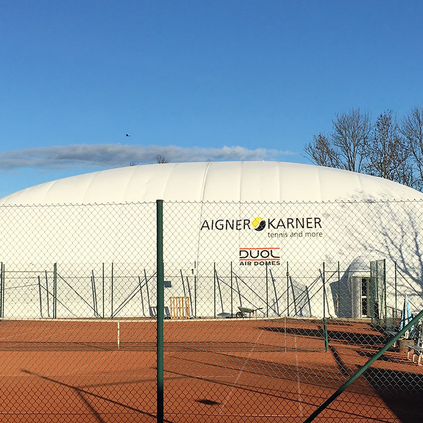 Inflatable Tennis Dome Anchoring – Munich, Germany - Installed with Platipus B6 anchors