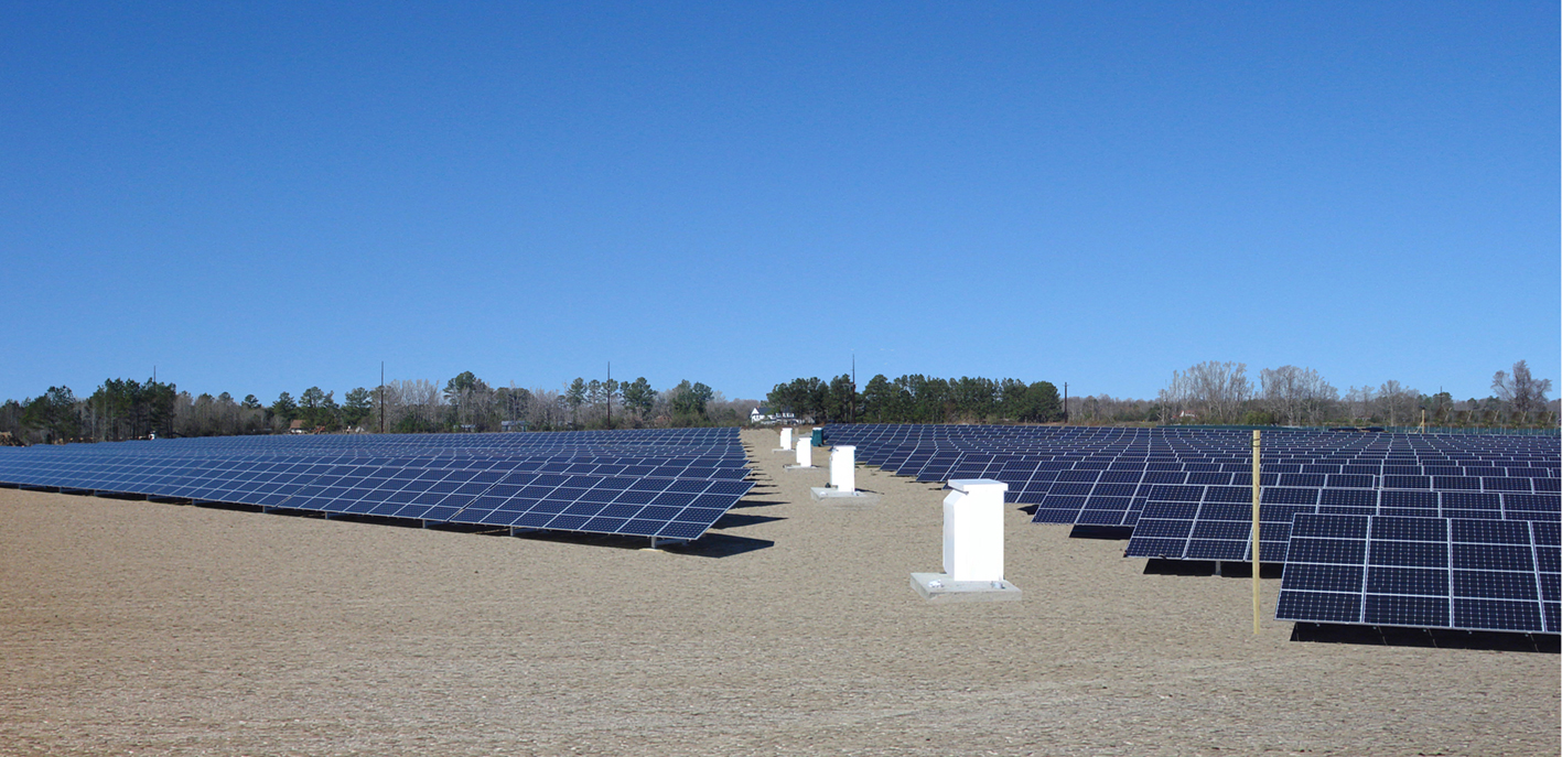 Plymouth Solar PV Farm (2.4MW) – NC, USA - Secured with Platipus S8 earth anchors