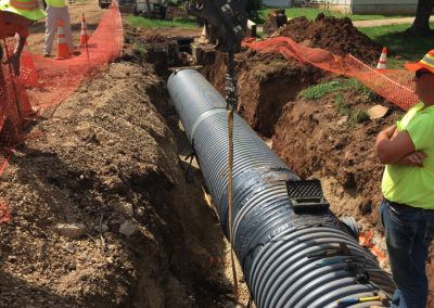 Trailwood & Chestnut – Stormwater Improvements – Desloge, MO - Loadlocking Platipus earth anchor