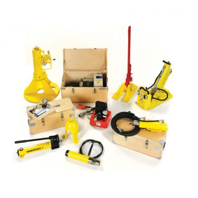 Heavy installation tools that can be used to install Platipus earth anchors for more challenging applications