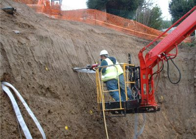 Active Plati-Drains® Being Installed