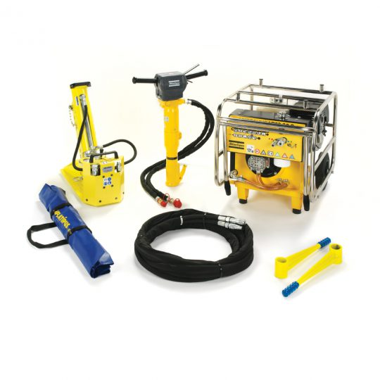 Medium handheld installation tools that can be used to install Platipus earth anchors