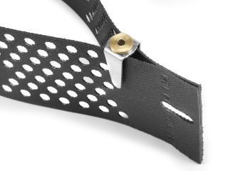 Close up of the Platipus Geoclip system for securing Geowebbing